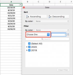 How to filter dates by month in Excel with year ignored 4