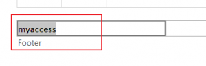 How to insert cell value into header or footer in Excel6