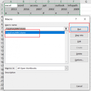 Select and Copy Cell Values from Every Nth Column in Excel2