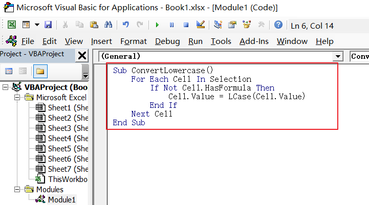 convert text case into uppercase or lowercase in Excel12