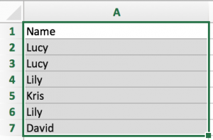 How to extract unique values from list and remove the duplicates in Excel 2