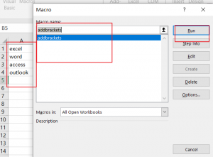 Add Brackets for Cells 9