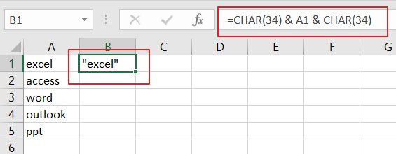 Add Quotes around Cell Values1