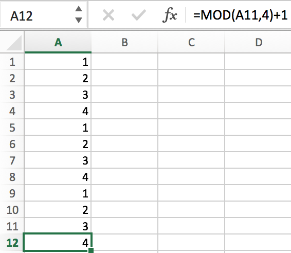 How to Fill a Sequence Number and Repeat Them in Excel 13