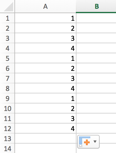 How to Fill a Sequence Number and Repeat Them in Excel 9