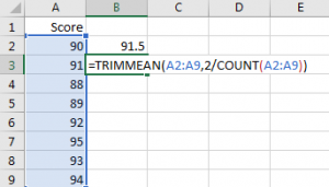 Calculate the Average Excluding the Smallest & Highest 4