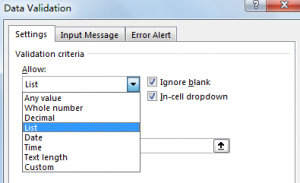 Create Drop Down List with Blank Cells Ignored 6