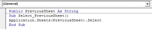 Create Shortcut to Go Back to Previous Worksheet 5