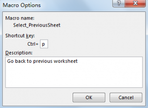 Create Shortcut to Go Back to Previous Worksheet 7