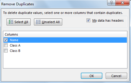 Find and Remove Duplicate Data 10