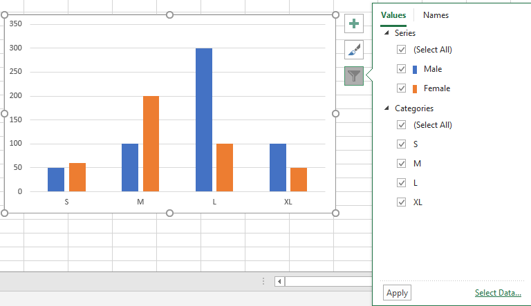 Insert A Chart with Data lists in Different Range 19