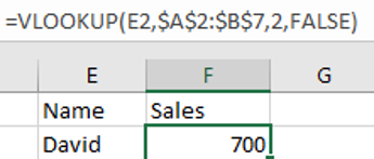 VLOOKUP with Dropdown List 6