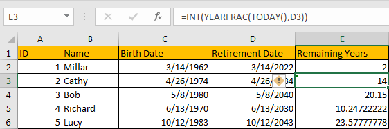 Calculate Retirement Date 10