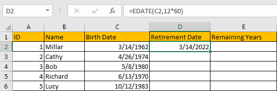 Calculate Retirement Date 5