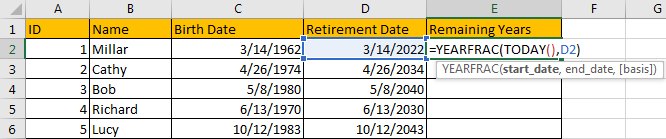 Calculate Retirement Date 7