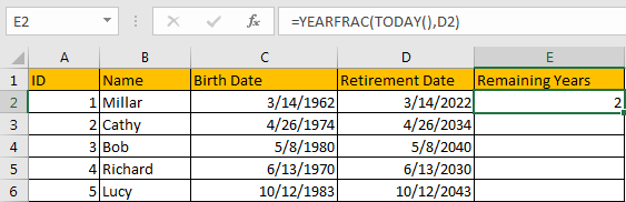Calculate Retirement Date 8