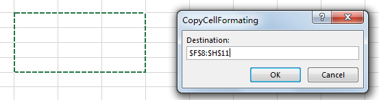 Copy Cell Formatting to Another Range 11