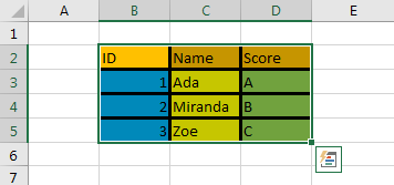 Copy Cell Formatting to Another Range 2