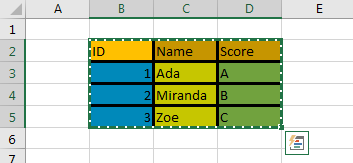Copy Cell Formatting to Another Range 4