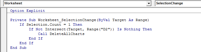 Trigger A Macro by Clicking A Specific Cell 4