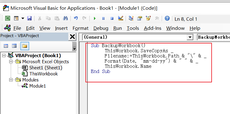 create backup of workbook2