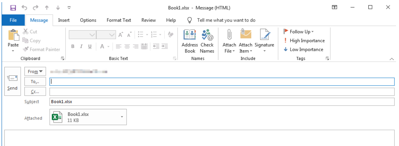 Send Workbook Outlook 33