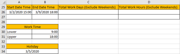 Calculate Total Work Days or Hours 1