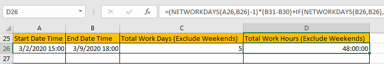 Calculate Total Work Days or Hours 13Calculate Total Work Days or Hours 13