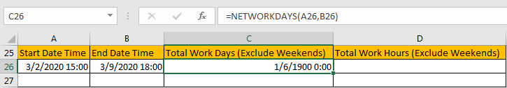 Calculate Total Work Days or Hours 4