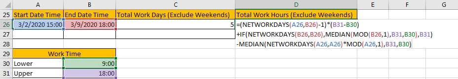 Calculate Total Work Days or Hours 9