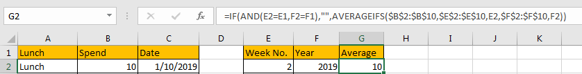 Calculate Weekly Average 8