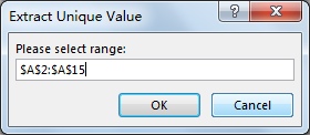 Dynamically Extract Unique Values8