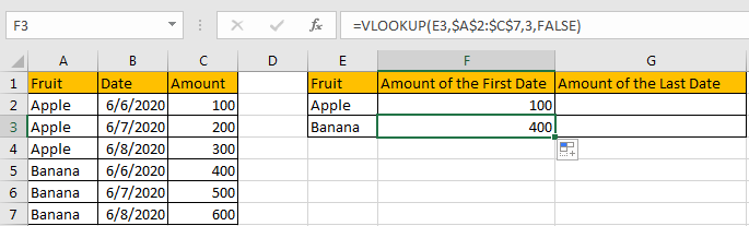 Use VLOOKUP to Find The First or Last 5