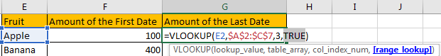 Use VLOOKUP to Find The First or Last 6