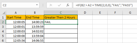 Compare Time Difference with Certain Time 2