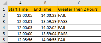 Compare Time Difference with Certain Time 3