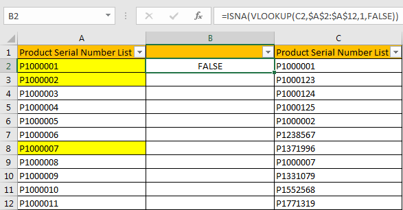 Compare Two Columns and Highlight Duplicate Values 11