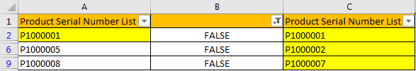 Compare Two Columns and Highlight Duplicate Values 12