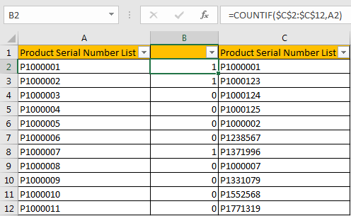 Compare Two Columns and Highlight Duplicate Values 14