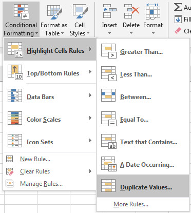 Compare Two Columns and Highlight Duplicate Values 3