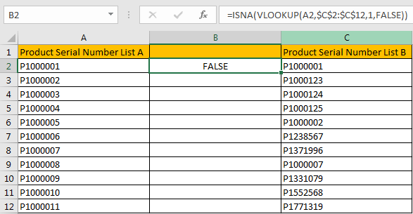 Compare Two Columns and Highlight Duplicate Values 6