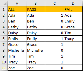 Exclude Values from One Column 11