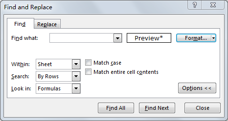 Identify and Select All Locked Cells 7