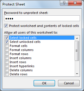 Lock and Unlock Cells Based on Another Cell 5