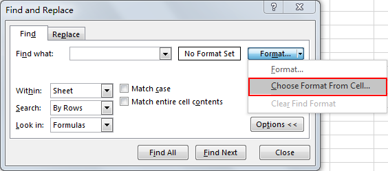 Select All Cells Whose Are in The Same Format 5