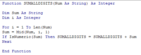 Sum All Digits in A Cell 4