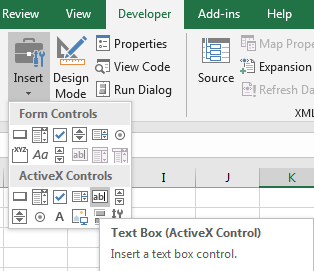 Create or Insert A Textbox Control with Scroll Bar 2