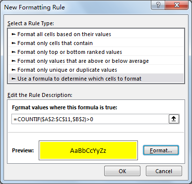 How to Apply Conditional Formatting across Workbook 9