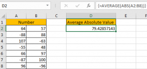 How to Average Absolute Values in Excel3