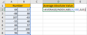 How to Average Absolute Values in Excel4